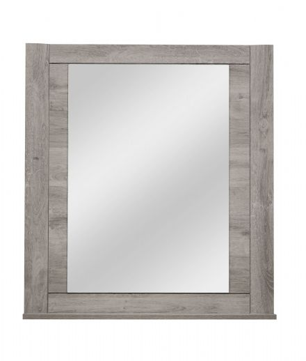 Eden Wall mounted Mirror Light Grey Oak